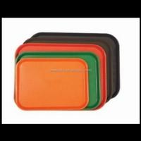 Fast Food Serving Trays Plastic Rectangular Black Brown Orange Green Red,custom plastic serving trays manufacturer