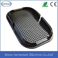 non-skid sticky desktop black mobile phone holder silica gel anti-slip sticky pad mat cellphone holder