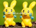 Crianças material de pvc e desenhos animados do brinquedo, custom plástico coelho dos desenhos animados do brinquedo