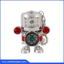 Jewelry multifunctional pen drive compass and watch usb flash drive robot shape