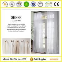 ready made natural linen sheer curtain , polyester sheer curtain