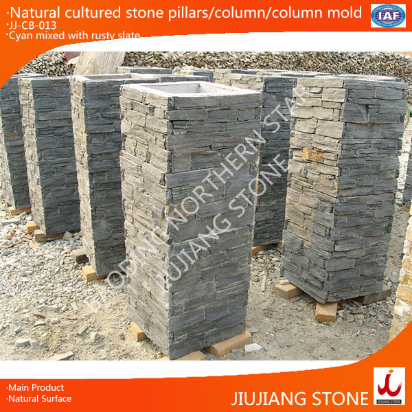 Natural Stone Columns : Natural cultured stone pillars concrete column mold buy