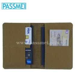 Mens Handmade Genuine Leather Travel Passport Wallet