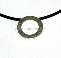 Message ring charms necklace circular shema yisrael antique silver pendant necklace