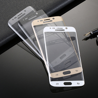 Curved Mobile phone tempered glass screen protector for Samsung S6 edge