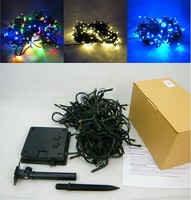 100 LED Christmas party solar powered decoration hanging string light