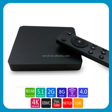 New Model! Rk3368 Octa Core 64Bit Tv Box PB393 Android 5.1 1G Ram + 8G Rom / 2G Ram + 8G Rom Option Smart Tv Box