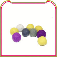 I095 wool acrylic woven beads