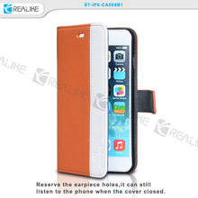 Best quality fashion PU leather for iphone 6s plus stand case,Creative Book designer