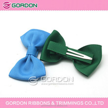 Wholesale Gift Hair bow customize/New Design Dog Hair Bow Clip For Decoration/handmade grosgrain ribbon bow