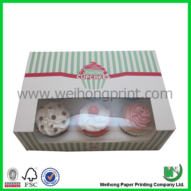 Impressos personalizados caixas de bolo do atacado made in China