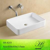 HS-5026 Foshan sanitary ware ceramic bathroom flat bathroom sink