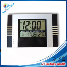 Hot selling cheap plastic wall clock digital wall clock for home decoration
