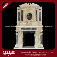 Natural Carved Marble Electric Fireplace no Heat