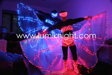 Illumiated LED butterfly dress/stage costume/luminous costume/ lighted LED wings / Shining dress