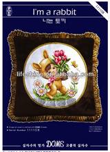 Cross-stitch hand embroidery design patterns creative pillow case