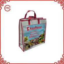 Top quality new coming gift pp woven shopping bag with zipper