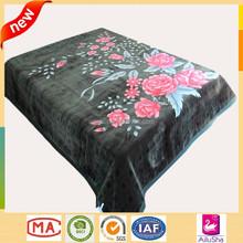 2 ply korean mink super soft thick baby flower prints handmade wool heavy fleece blanket
