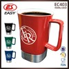 Wholesale BPA free custom printing sublimation ceramic nescafe coffee cup with handle