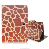 Factory Wholesale Leopard Design Folding Folio Stand PU Leather Universal Covers Case For 7inch~7.9inch Tablets PC