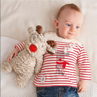 Babies Christmas Costumes Tee Shirt Children Stripe Shirt