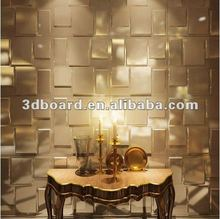 Building interior decoration metal wall panel with embossed design