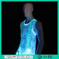 Sequin muscle teen shirt new design man led lighting tank tops