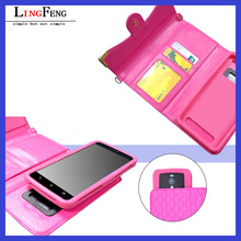 5.5 inch tpu leather universal flip phone case for moblie phone