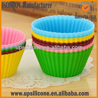 fliexible Silicone cupcake mold Baking Cup Set of 12 Reusable Cupcake Liners