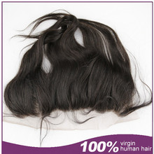Unprocessed top quality virgin human hair natural hairline lace frontal hair pieces