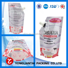 lovely wholesale reusable liquid stand up pouch/spout pouch bag