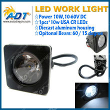 10W SPOT CR-EE LED WORK LIGHT 4X4 SQUARE TRUCK MOTORCYCLE SUV ATV OFF ROAD BOAT
