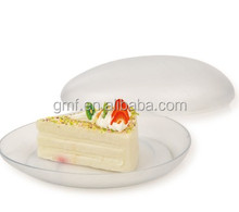 2014 novos produtos descartáveis de plástico rígido pratos doces