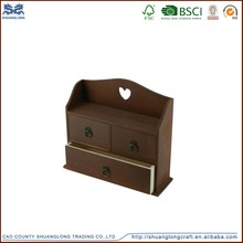 Shandong Shuanglong art and crafts 3 drawers wooden small cabinet, cute hanging cabinets