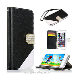 for apple iphone 6 leather case , wholesale bling leather case for iphone6