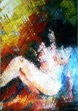 Venta caliente sex girl hechos a mano imagen pintura al óleo en la lona decorationWZ-313