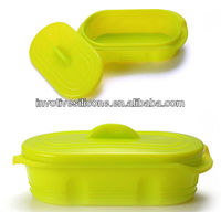 Hot Green FDA Standard Silicone Rectangular Colander