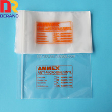 A-line reclosable LDPE plastic zip top cosmetic bag