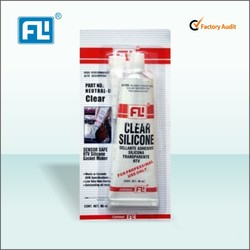 RTV clear silicone gasket maker in car engine sealing