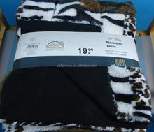 hot sale pv fleece polyester sherpa knit blanket
