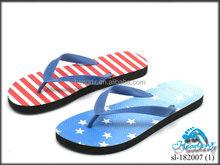 Man PE&rubber heat transfer slipper flip flop 2012