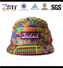 Blank Leather Strap Back Hat/5-Panel Cap/Digital Printing 5 Panel Hat