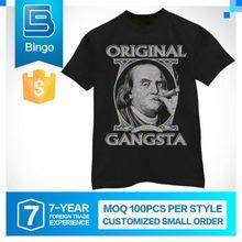 2015 Brand New Design Custom Logo Compressed T Shirt