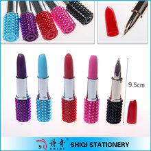 fashion office lady project lipstick shaped pen woman pen