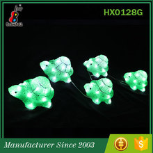 Alibaba China Hot Selling Decorative Cute led green Turtles brand ornament