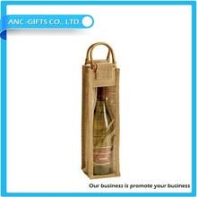 non woven cotton canvas jute wine bag wine bottle bag