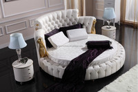 Import Modern Italian Furniture from china,Foshan Furniture Bedroom, Luxurious Super King size double round bed