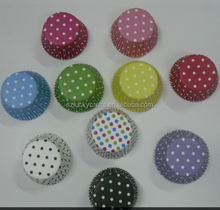 Stock Red,White,Black,Brown,Pink,Green,Blue,Purple,Yellow Pokla dot paper cupcake liner muffin baking cup mould cake case