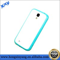 Matte plastic with soft tpu sides cover for Samsung S4