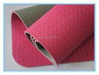 TPE Yoga Mat in Red Yellow Blue ectc with different Size and Thickness